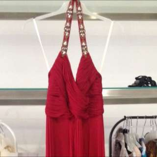 Marchesa Note Red Dress Size 2