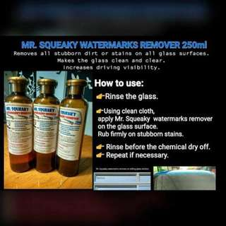 Mr. Squeaky Watermarks Remover and Glass Treatment