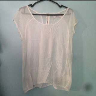 white back-zippered top