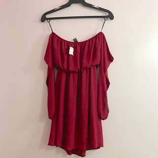Forever 21 Red off shoulder Dress