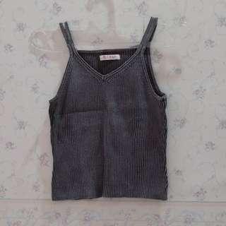 👕Brown Knit Tanktop | Dalaman Rajut Cokelat