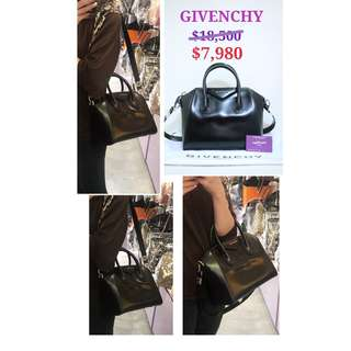 99% New GIVENCHY Antigona 黑色 皮革 手提袋 手挽袋 肩背袋 手袋 Medium Bag Handbag In Black