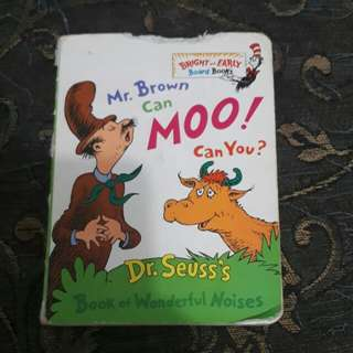 Mr.Brown can Moo! Can You? Book by Dr.Seuss