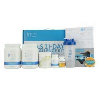 TLS™ 21-Day Challenge Kit - Includes one Curcumin Extreme™ (30 servings), two TLS™ Nutrition Shakes (28 servings, one TLS™ CORE Fat & Carb Inhibitor (60 servings), one NutriClean™ Advanced Fibre Powder, one TLS™ 21-Day Challenge Tracking Sheet