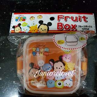 [Juniorcloset] 🆕 Authentic Disney Tsum Tsum fruit box Snack Mini lunch box (Japan Direct)