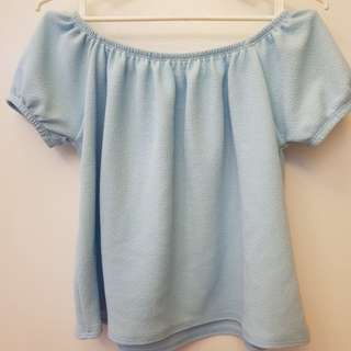 Off shoulder top (powder blue)