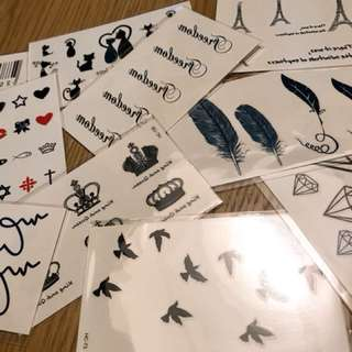 Tattoo Stickers set of 10
