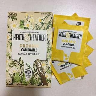 英國有機洋甘菊茶包heath&heather organic camomile