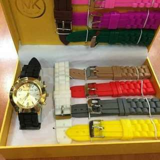 Watch Set with extra Rubber Straps