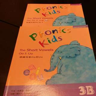 Phonics Kids 3A & 3B with 1 CD and 1 VCD
