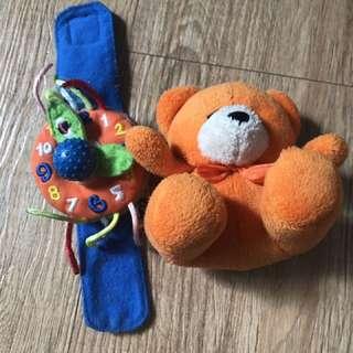 Soft Watch and Orange Bear