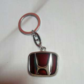 Honda Red Metal Keychain