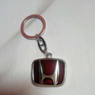 Honda Red Metal Keychain