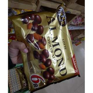 Lotte Almond Chocolate [POUCH] 141g
