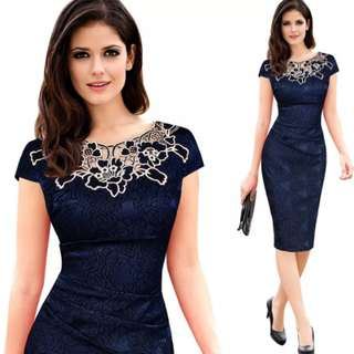 🚚 #floral embroidery dress long dress for women