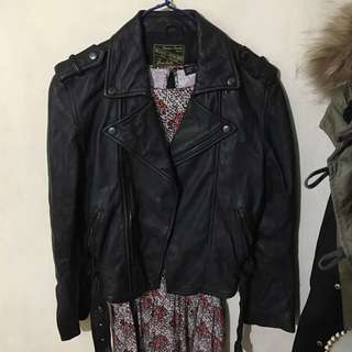 D-mop blue heroes leather jacket 女裝皮褸