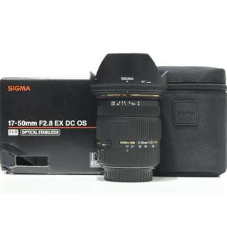 Sigma 17-50mm f2.8 EX DC OS HSM Lens (Canon Mount)