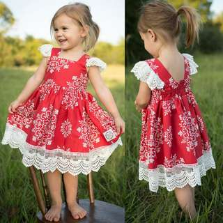 [INSTOCK] LACY RED DRESS