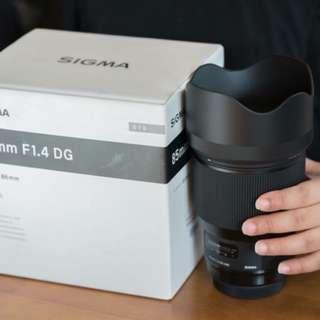 Sigma 85mm f1.4 ART Canon Mount