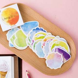 BN Gradient Watercolour Deco Stickers (45pc/box)