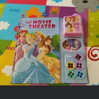 Disney princess projector movie book