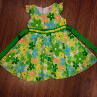 New fresh green floral Dress