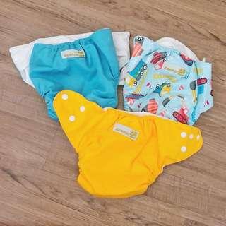 Bamboo Dappy Cloth Diapers - Set B