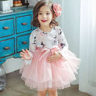 [INSTOCK] PINK FLORAL TULLE PARTY DRESS