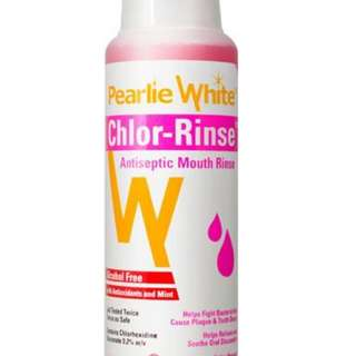 Pearly White Chlor-Rinse mouthwash