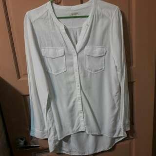 白色棉質襯衫