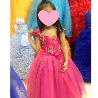 REPRICED! KIDS PINK GOWN