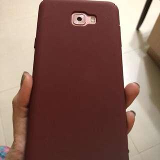 磨沙酒紅Samsung C7 pro phone case
