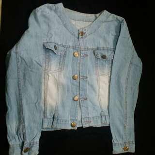 Jaket Jeans Denim Cropped / Motif