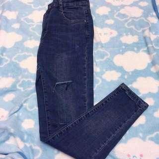 窄腳牛仔褲
