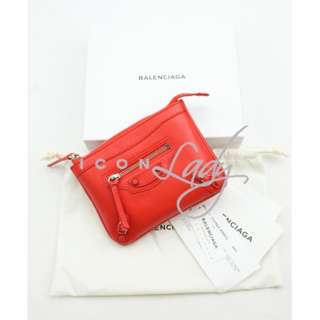 (Sale Promotion) BALENCIAGA Holiday系列 272464 Classic Porte Monnaie M 橙紅色 (Poppy) Tone on Tone 零錢包 散紙包