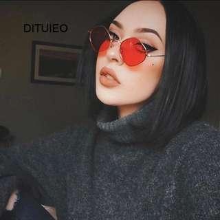 Vintage colorful small fashion sunglasses