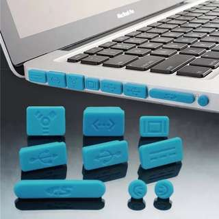3colors free postage Silicone Anti-dust Ports Cover Stopper Set Dust Plug For Macbook Pro Laptop