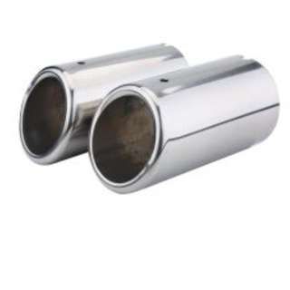 Pair of Car Exhaust Tail Pipes Muffler Tips for VW Golf Tiguan Passat Touran