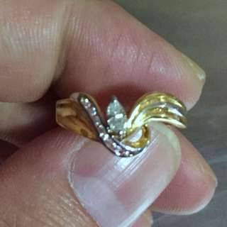 Diamond 20k gold ring