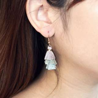 BN Mini Tiered Tassel Earrings