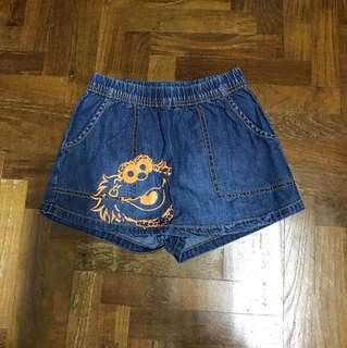Sesame Street denim skirt