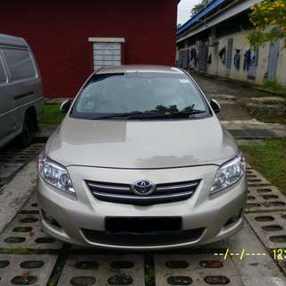 Toyota Altis For Long Term Lease