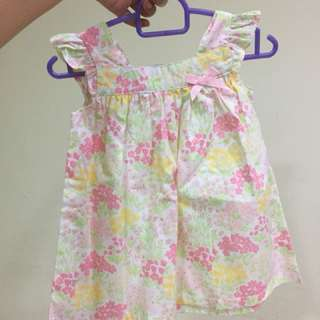Tiny button floral dress