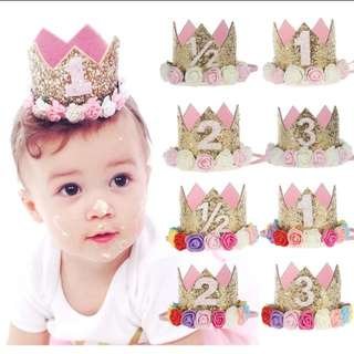 BNIB Baby girl first birthday headband crown
