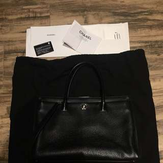 Chanel Black Cerf Executive Bag