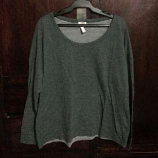 GRAY AND STRIPPED REVERSIBLE LONG SLEEVE
