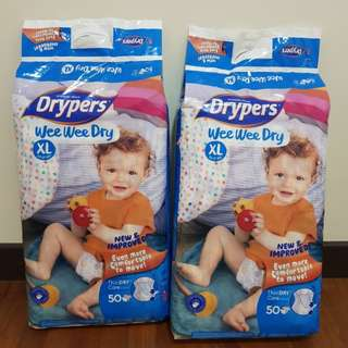 Drypers Wee Wee Dry XL Diapers