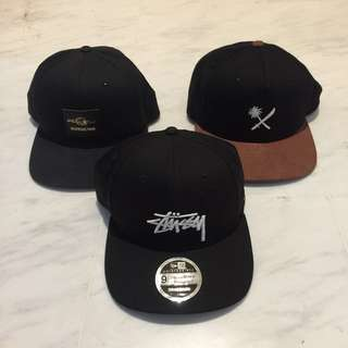 Set of 3 caps $40 only - Stussy and UVt caps