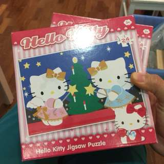 Pre-loved hello kitty 24pcs puzzles (2 sets)