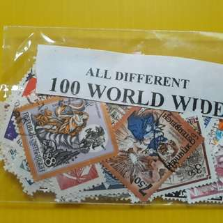 WORLD ALL DIFFERENT - 100 STAMPS